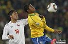 高清:五星桑巴全面开花 巴西3-0智利进八强