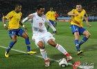 图文:巴西VS智利 博塞豪尔控球