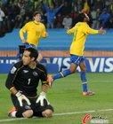 图文:巴西3-0智利 布拉沃很无奈