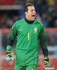 图文:巴西VS智利 塞萨尔大喊