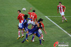 图文:巴拉圭VS日本 达席尔瓦争顶