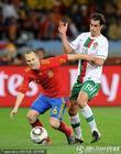 图文:西班牙VS葡萄牙 蒂亚戈对决小白