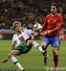 图文:西班牙VS葡萄牙 科恩特劳摔倒