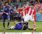 图文:巴拉圭VS日本 奥蒂戈萨被严防