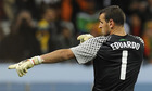 图文:西班牙1-0葡萄牙 葡萄牙守门员爱德华多