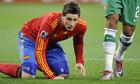 图文:西班牙1-0葡萄牙 托雷斯倒地