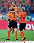 图文:荷兰2-1巴西 斯内德与库伊特