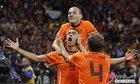 乌拉圭VS荷兰 范队怒吼庆祝进球