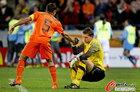 乌拉圭VS荷兰 范队拉起门将