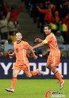 乌拉圭VS荷兰 斯内德进球庆祝