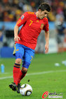 图文:德国VS西班牙 比利亚带球