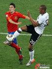 图文:德国VS西班牙 博阿滕停球