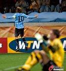 图文:乌拉圭2-3荷兰 弗兰庆祝