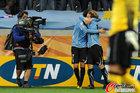 图文:乌拉圭VS荷兰 弗兰庆祝进球