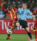 图文:乌拉圭VS加纳 佩雷斯防护凶狠