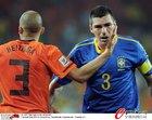 图文:荷兰2-1巴西 卢西奥与海廷加