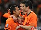 图文:乌拉圭VS荷兰 范博梅尔与范队
