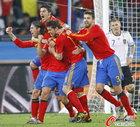 图文:德国0-1西班牙 拉莫斯兴奋
