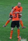 图文:荷兰2-1斯洛伐克 斯内德与海廷加
