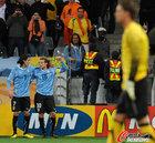 图文:乌拉圭VS荷兰 弗兰与卡瓦尼