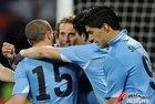 德国3-2乌拉圭 队员拥抱