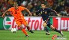 图文:荷兰0-1西班牙 德容疾进