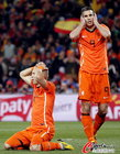 图文:荷兰0-1西班牙 范佩西失望