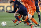 图文:荷兰VS西班牙 佩德罗前进