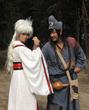 翁虹剧中与陈浩民对戏。